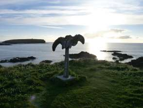 Whalebone at Birsay with Brough of Birsay in background