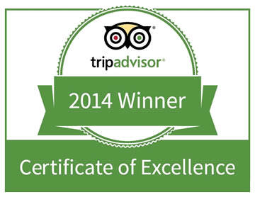 Tripadvisor Certificate of Excellence 2014 Award logo